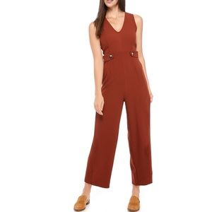 Sleeveless Button Side Jumpsuit Size Medium